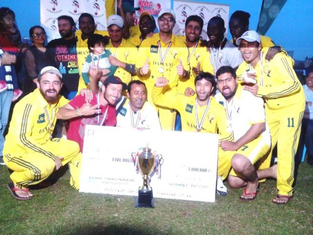 Aziz Damani are the 2016 Kishor Pabari Tournament Champions