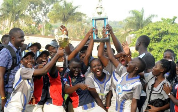 Kololo SS celebrate their first ever national title soon after toppling Kololo SS by seven wickets in the final. PHOTO BY EDDIE CHICCO