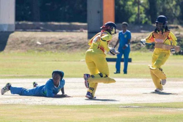 Naomi Kayondo in action. Zimbabwe Cricket photo