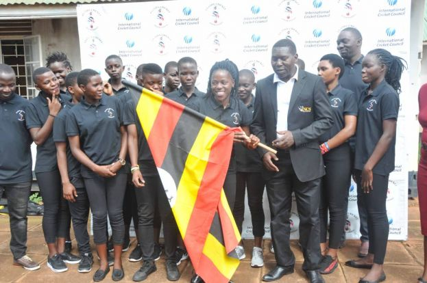 National Council of Sports official David Katende Ssemakula flagged off the new-look Lady Cricket Cranes side to Kigali, Rwanda for the sixth edition of the Kwibuka Women's T20 Tournament.