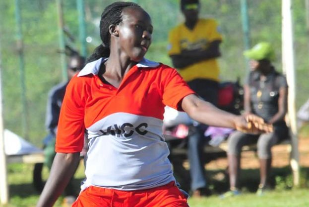 KICC captain Chandiru registered her best bowling figures. Photo by Eddie Chicco