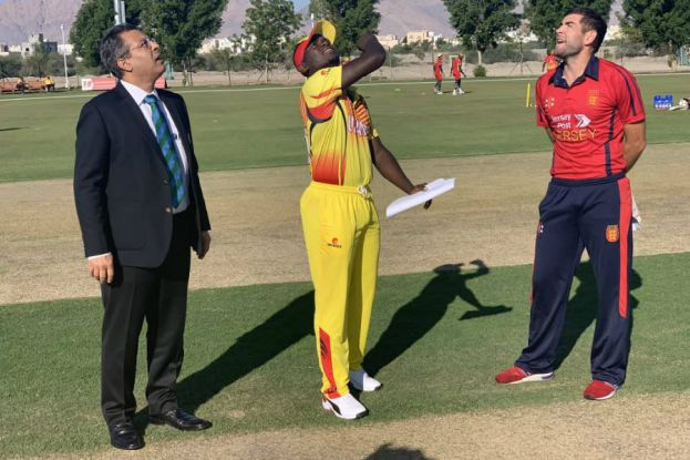 UGANDA CRICKET CRANES HOLD THEIR NERVE TO DEFEAT JERSEY BY 25 RUNS IN OMAN