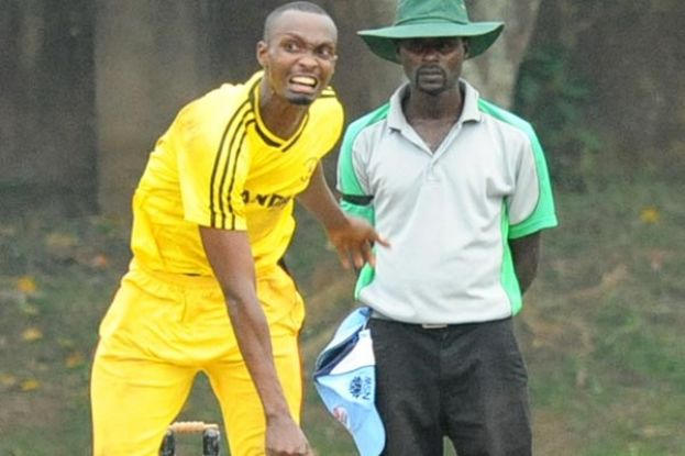 Bowling all-rounder Muhumuza (23 off 19 balls) hit the winning runs. PHOTO BY EDDIE CHICCO