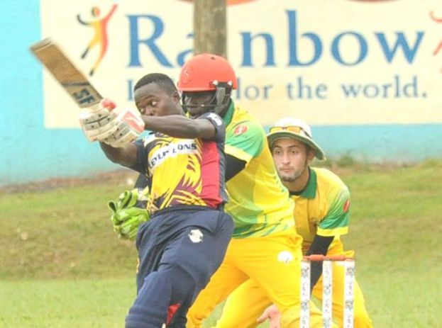 Ceylons Lions captain Lawrence Ssempijja (batting) and Damani's pair; Riazat Ali Shah and Fred Achelam have work to do for their teams today. PHOTOS BY EDDIE CHICCO