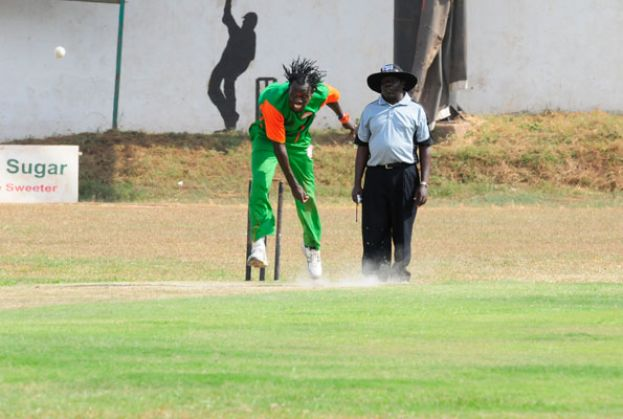 Ochan bowls for Tornado B in a local National T20 League game against ACC at Lugogo last year. PHOTO BY EDDIE CHICCO