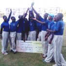 Jinja SSS CC with the Winners Trophy. Photo by Franklyn Najjumba