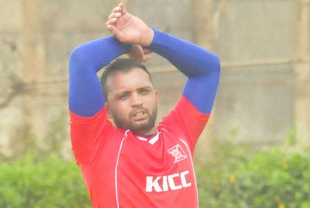KICC's Afridi gestures during a previous league engagement. PHOTO BY EDDIE CHICCO