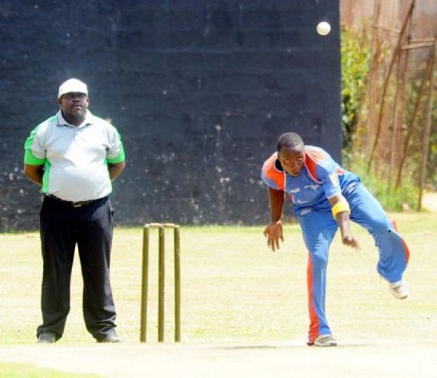 Left-arm spinner Ivan Kakande (R) helped Nile skittle Tornado Bee for 91 as both teams shared spoils in Entebbe. Photo BY EDDIE CHICCO