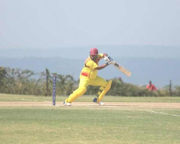 Stroke Maker. Ronak Patel has mixed solidity with controlled aggression every time he has got a chance to bat for Uganda. PHOTO BY ICC/DON MUGISHA