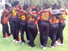 Lady Cricket Cranes before the match