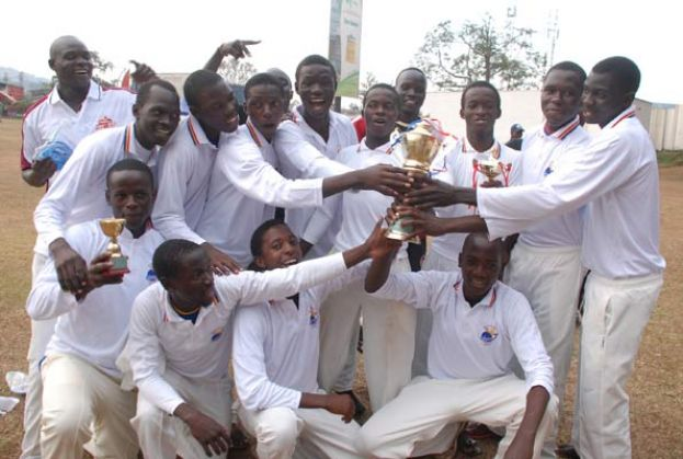 Mukono Parents celebrate after being crowned Pepsi Boys Cricket Week champions at Lugogo on Friday. PHOTO BY EDDIE CHICCO