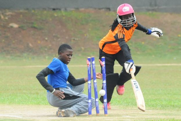 Racheal Ntono's Olila (right) have turned heads in their first season in the Jazz Safari National Women's Cricket League. PHOTO BY Eddie Chicco